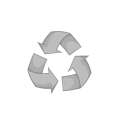 Recycle symbol icon black monochrome style vector image