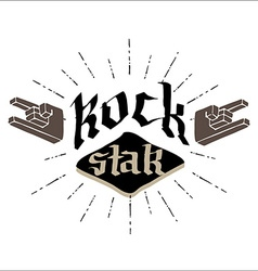 rock star - retro badge for poster flayer or vector image