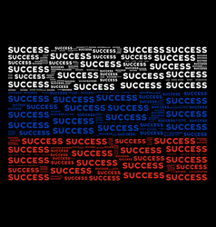 Russia flag mosaic of success texts vector