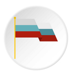 Russian flag icon circle vector