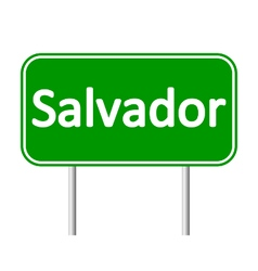 Salvador road sign vector