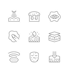 Set line icons skin care vector