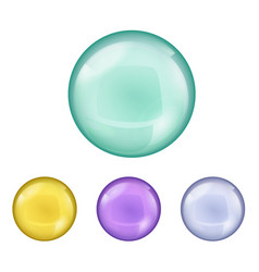 set of metallic spheres and pearls isolated on vector image
