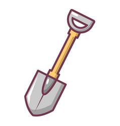 Shovel icon cartoon style vector
