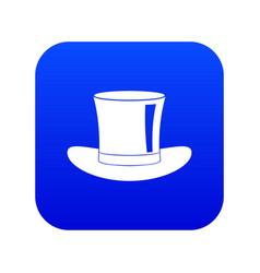 silk hat icon digital blue vector image