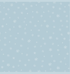 snowflakes seamless pattern hand drawn vector image