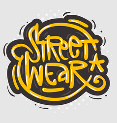 Street wear fashion 90s casual urban style vector