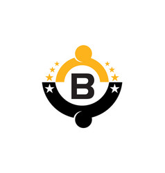 Success life coaching initial b vector