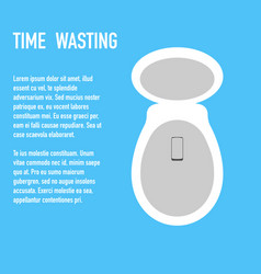 Time wasting to toilet concept banner vector