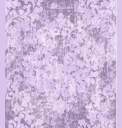 vintage pink baroque pattern beautiful vector image