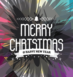 Wish you merry christmas colorful vector
