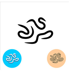 worms intestinal parasites icon helminths symbol vector image