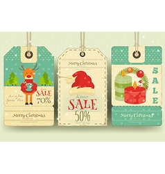 Xmas sale tags vector