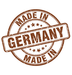 made in germany brown grunge round stamp vector image vector image