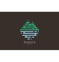 Mountain line logo Beautiful logo Creative logo vector image