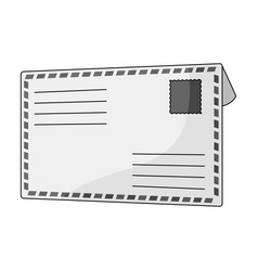 postal envelopemail and postman single icon in vector image