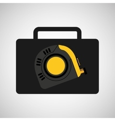 tool box measure tape construction icon design vector image