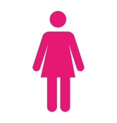woman pictogram pink icon vector image