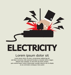 Electric shock eps10 vector