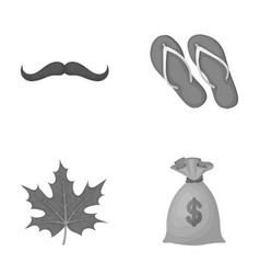 fashion symbol and other monochrome icon in vector image