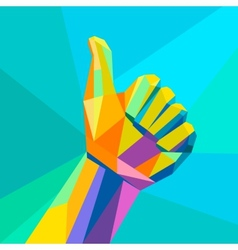 Likehand sign geometrical style vector image