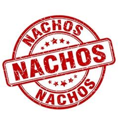 nachos red grunge round vintage rubber stamp vector image vector image