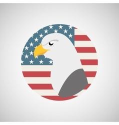 usa flag freedom symbol eagle vector image