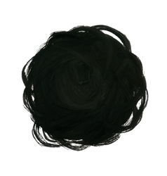 Black Yarn Ball Background vector image vector image