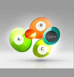 glass circles banner vector image