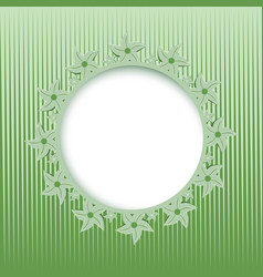 lace round frame vector image vector image