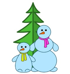 snowballs with furtree vector image vector image