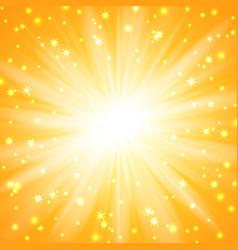 yellow sunburst background vector image vector image