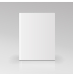 Blank book cover Isolated vector image vector image