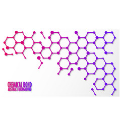 chemical bond science concept abstract vector image