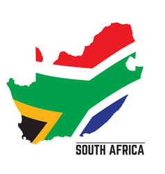 flag and map of south africa vector image