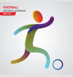 football color sport icon design template vector image vector image