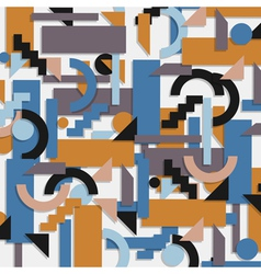 Geometric background in cubism style vector image vector image