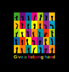 give a helping hand concept vector image vector image