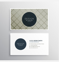 Modern elegant business card template design with vector