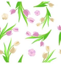 Pattern flower Background green vector image