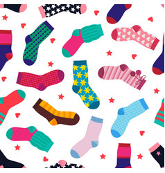 seamless pattern with different funny socks vector image vector image
