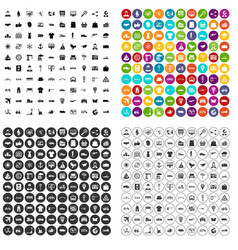 100 logistic and delivery icons set variant vector