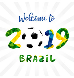 2019 welcome logo banner vector image