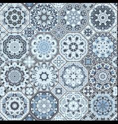 a set of blue tiles vector image