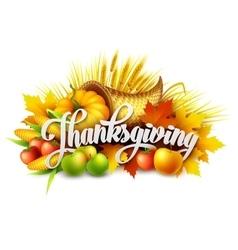 A Thanksgiving cornucopia full of vector