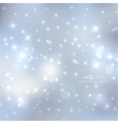 Abstract blurred background with sparkle stars vector