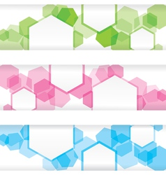 Abstract colorful banner with forms of empty frame vector image