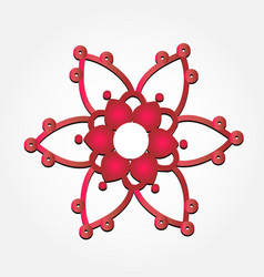 abstract red flower icon vector image