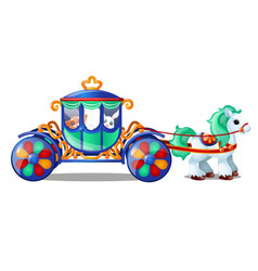 Animated circus horse or pony carries small vector