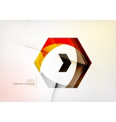 Arrow Geometric Shape Abstract Business Background vector image